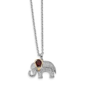 Jewelry - 14KY 925 Lucky 🐘 💎 Necklace